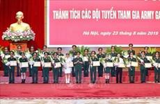 越南人民军代表团在2019年国际军事比赛中取得优异成绩