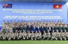 越澳两国总理探访军医学院二号二级野战医院