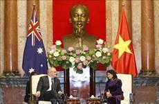 越南国家副主席邓氏玉盛会见澳大利亚总理斯科特•莫里森