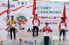 越南学生代表团在东南亚学生运动会上获得20枚奖牌