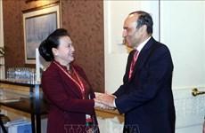 越南国会主席阮氏金银会见摩洛哥众议院议长哈比博•马勒克