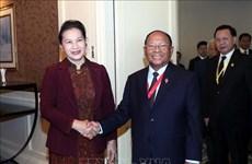 阮氏金银会见柬埔寨国会主席韩桑林