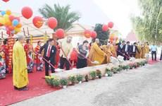 旅居捷克越南僧尼和佛家弟子隆重举行永严寺奠基动工仪式