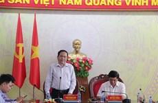 越南祖国阵线中央委员会主席陈青敏看望慰问得乐省受灾群众