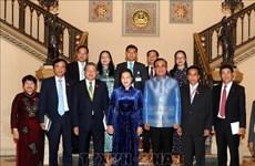 越南国会主席阮氏金银与泰国总理巴育举行会晤