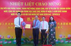 中国防城区代表团访问越南广宁省平辽县