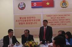 朝鲜职业同盟代表团访问越南河南省工会基础设施项目