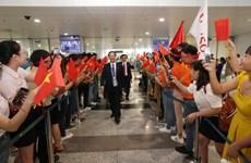 越南代表团在第45届世界技能大赛中载誉归来