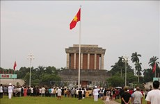 九·二国庆假期胡志明主席陵接待瞻仰者超过5万人次