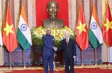 印度总统向越共中央总书记、国家主席致电祝贺越南国庆74周年