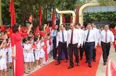 越南党和国家领导人与全国学生共迎新学年