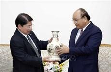 政府总理阮春福会见尼加拉瓜外长丹尼斯·孟卡达
