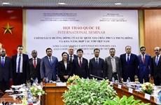 越南与非洲和中东各国进一步促进多方面的合作