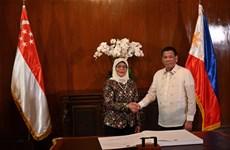 进一步巩固菲律宾与新加坡防务和经贸合作