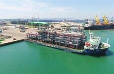 斗山重工业(越南)有限公司向阿联酋出口12个巨型模块
