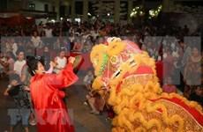 旅居老挝万象越南儿童欢度中秋节