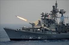 印度与马来西亚开展海上联合军事演习