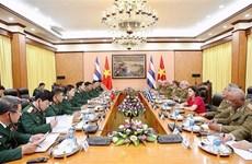 越南人民军高级军事代表团同古巴高级军事代表团举行会谈