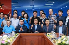 越南劳动总联合会主席会见韩国工会联合会代表团