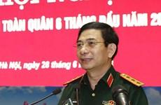 越南人民军高级军事代表团对缅甸进行正式访问