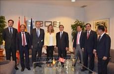 越共中央经济部部长阮文平对西班牙进行工作访问