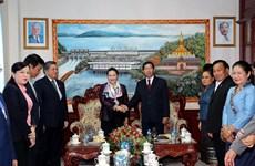 越南国会主席阮氏金银会见万象省委书记兼省长康潘·西提丹帕