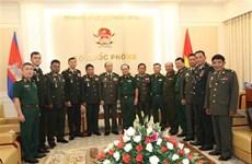 越南与柬埔寨加强防务合作关系