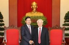 老挝总理通伦结束对越南的正式访问之旅