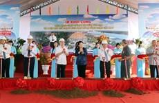 越南国会主席阮氏金银出席芹苴弯弓路历史遗迹区保护项目开工仪式