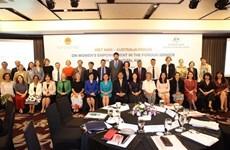 促进对外领域女性作用和参与度对越澳经济增长具有重要意义