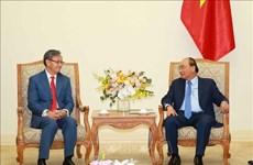 老挝驻越大使任期届满向越南政府总理辞行