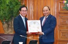 政府总理阮春福支持韩国三星集团继续扩大在越南的投资范围