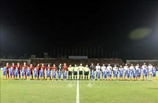 国际足球友谊赛:越南U22球队与阿联酋U22球队握手言和