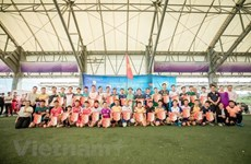 旅居日本越南人举行足球友谊赛