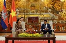 越南首都河内与柬埔寨首都金边加强合作关系