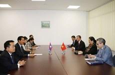 越南国会常务副主席丛氏放与老挝国会副主席本邦∙布达纳冯举行双边会晤
