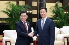 新加坡与中国签署9项合作协议