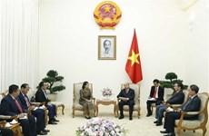 越南政府总理阮春福会见柬埔寨副首相梅森安