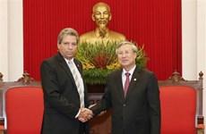 越共中央书记处书记陈国旺会见古巴共产党代表团