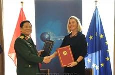 设立越南参与欧盟危机管理活动的框架协定正式签署