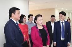 越南国会主席阮氏金银出席《人民代表报》更名升级10周年纪念活动