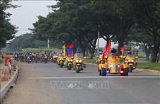 南圻起义自行车赛事首次经过柬埔寨金边