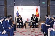 第35届东盟峰会:阮春福总理会见泰国总理巴育