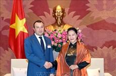 越南国会主席阮氏金银会见亚美尼亚国民议会副议长