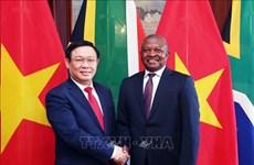 越南政府副总理王廷惠与南非副总统戴维会谈
