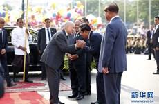 柬埔寨独立66周年庆祝活动安全顺利举行