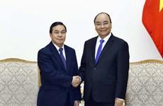 阮春福总理会见老挝新任驻越大使森菲特