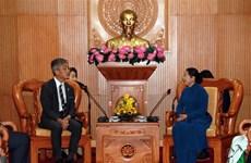胡志明市领导会见东南亚与日本青年船计划代表团