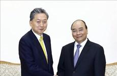 越南政府总理阮春福会见日本东亚研究院院长鸠山由纪夫