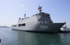 缅甸军舰抵达金兰港 与越南海军举行交流活动